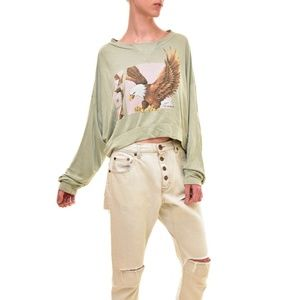 NWT Wildfox Bird of Prey Nella Pullover Small